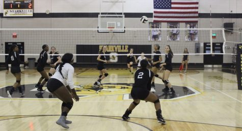 Lady Jacket volleyball takes first in district