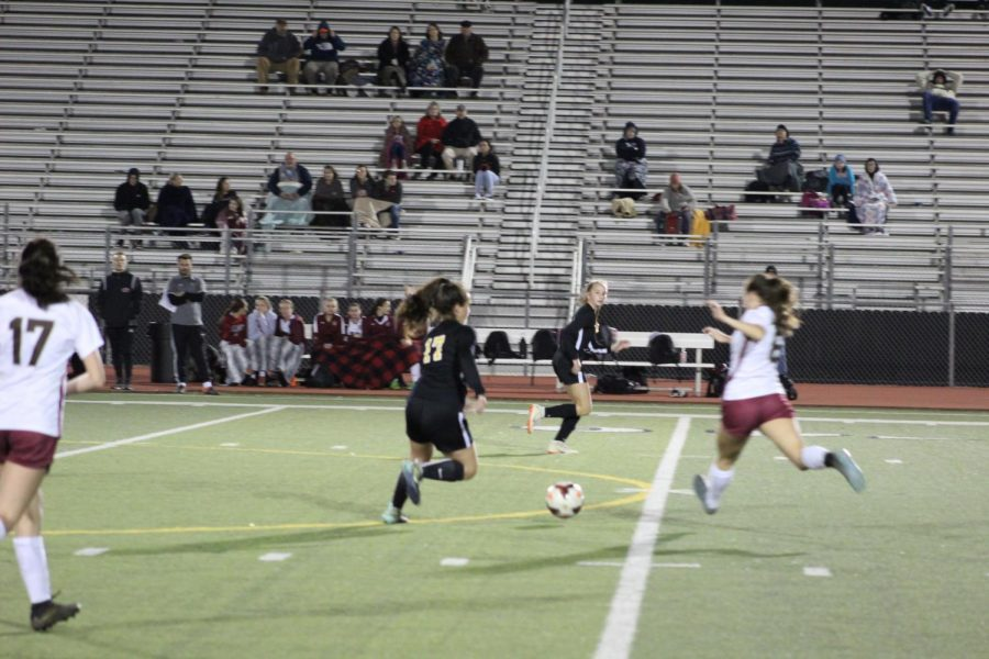 Lady Jacket Soccer ties in game against Caledonia Confederates