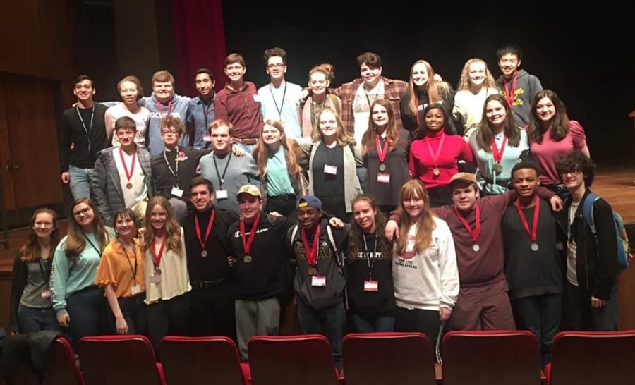 Thespians+attend+MTA+Festival