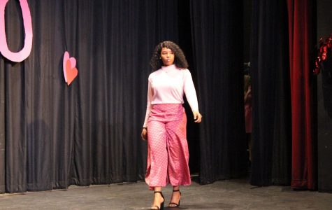 Tykerria Jones models in the fashion show.