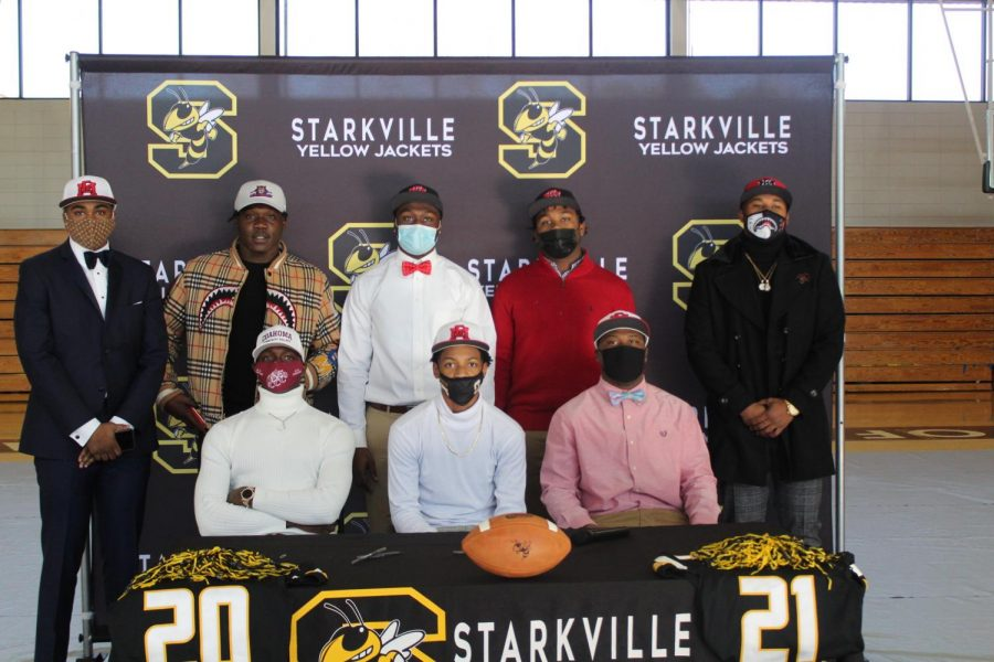 The Class of 2021 football signees after signing to play the next level.